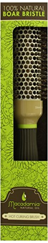 Healing Oil Infused Comb - Macadamia Oil 100% Boar Hot Curling Brush