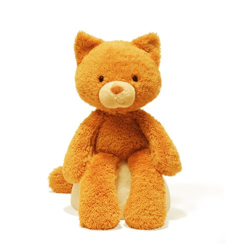 Gund Fuzzy Cat Stuffed Animal (Orange Soft Bear)