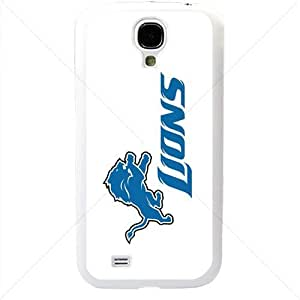 NFL American football Detroit Lions Fans Samsung Galaxy S4 SIV I9500 TPU Soft Black or White case (White)