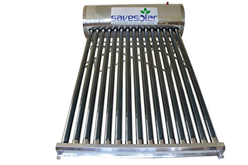 Calentador solar de agua de tubos al vacio 130 litros