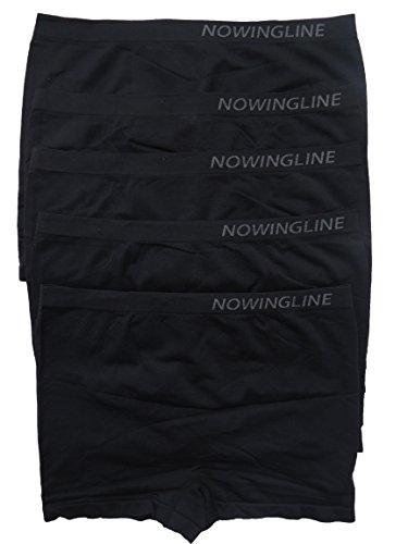 Schwarze Panties 5er Pack für Damen von Nowingline Größe 38-64