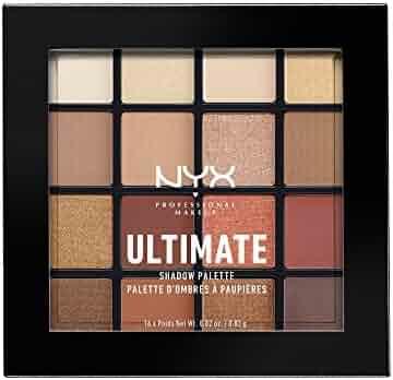NYX PROFESSIONAL MAKEUP Ultimate Shadow Palette, Warm Neutrals, 0.02 oz /0.83 g