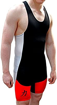 Chándal, color rojo/blanco/negro, con logo de Strength Shop ...