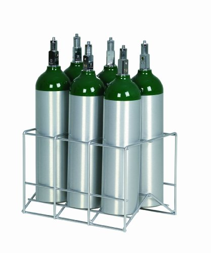 6 Cylinder Metal Rack for D / E / M9 Oxygen Cylinders