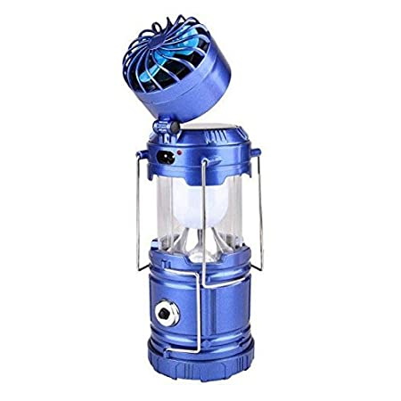 TOOGOO 3 in 1 Solar Rechargeable Fan Multi-Function LED Camping Light Table Lamp Flashlight Lamp