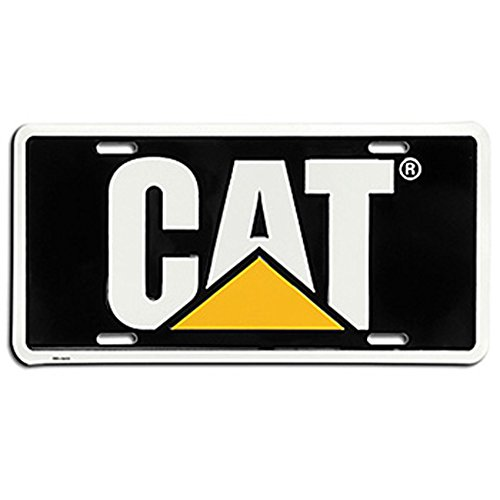 Caterpillar CAT Equipment Traditional Black/Yellow/White Novelty License Plate - Equipment License Plate