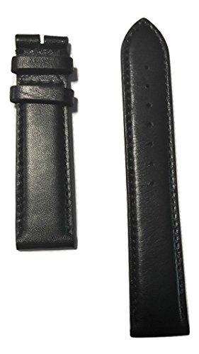 Movado Black Leather Band Strap for Movado Men's Ultra Slim Watch Models: 0607086, 0607087 -  MOV-569402209