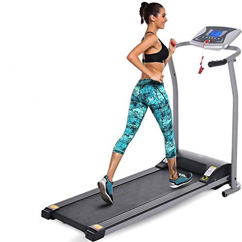 neudas Folding Electric Treadmill Running Machine Gym Fitness Exercise Equipment for Home (Silver)