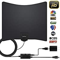 TV Antenna, HDTV Indoor Digital Amplified TV Antennas 65-90 Miles Range with Amplifier TV Signals, Ultra Thin Indoor Antenna for 4K1080P HD Free Local TV Channels - Support All TVs(16.5ft Coax Cable)