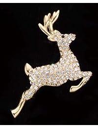 Diamond Studded Reindeer Pin Art   1449SP