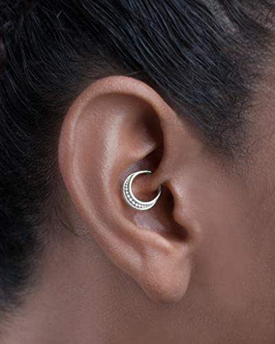 Amazon.com: Daith Piercing Jewelry, Sterling Silver Septum ...