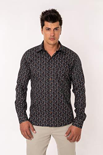 Camisa Casual Estampada Manga Longa