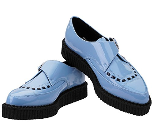 Blue Patent Women's Shoes Blue Pointed K Buckle Creeper Baby U T xCwFHXqwa