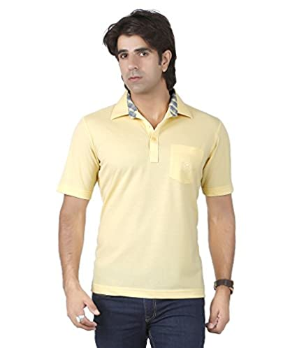0f937f85b2073 Valet Stow Yellow Half Sleeves Premium T-Shirts for Men: Amazon.in: Clothing  & Accessories