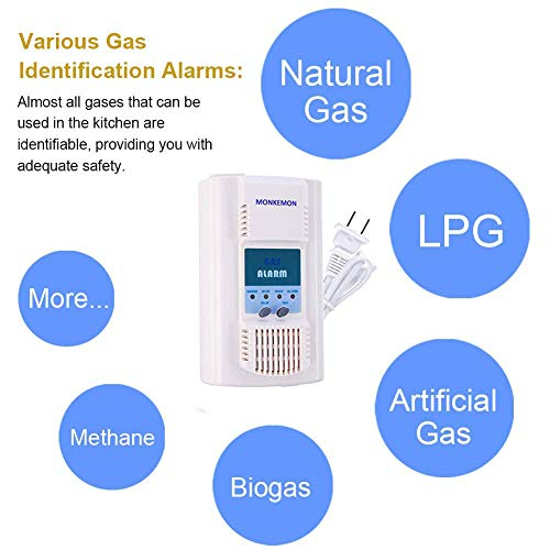 Plug-in Natural Propane Gas Detector for Home Combustible Gas Leak Alarm Methane Butane Sensor with Voice Warning Family Safety Products MK-GD401