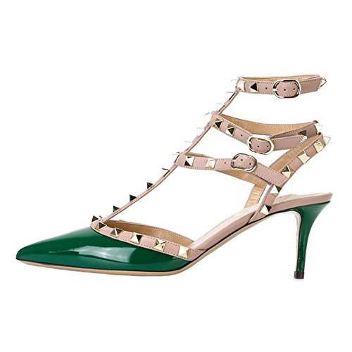 EKS - sandalias Mujer Verde - Grün-lackleder