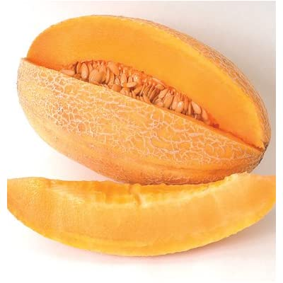 Organic Sweet Melon Granite Melon 20+ Seeds : Plant Seed Collections : Garden & Outdoor