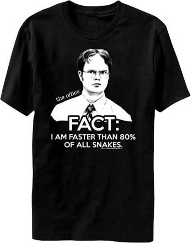 The Office TV Show Dwight Fact Faster Than Snakes Men's T-shirt