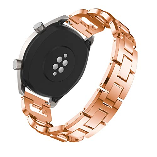 Finedayqi ❤ Replacement Metal Crystal Watch Strap Wrist Band for Huawei Watch GT (Rose Gold) by Fineday (Image #3)