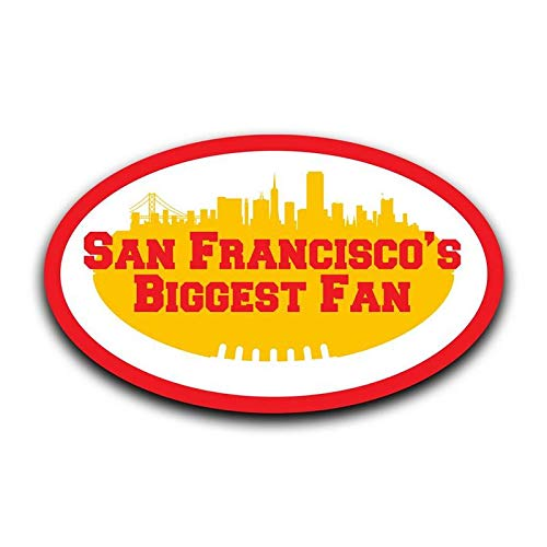 MKS0389 Two 5 Inch Decals More Shiz San Franciscos Biggest Fan Decal Sticker Car Truck Van Bumper Window Laptop Cup Wall