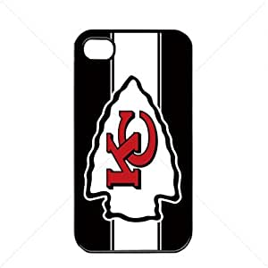 NFL American football Kansas City Chiefs Fans Apple iPhone 4 / 4s TPU Soft Black or White case (Black)