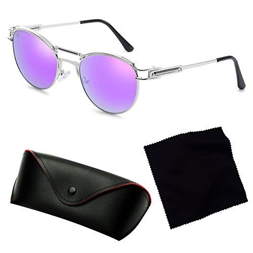 lunettes femmes Metal hommes Vintage pour Revêtement de C6 les junkai Vintage soleil Steampunk RvXqxAwAE