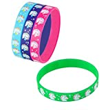 7.75'' Unicorn Silicone Bracelets, Assorted Colors. 36 Pieces.