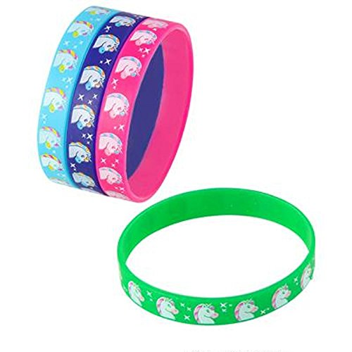 7.75'' Unicorn Silicone Bracelets, Assorted Colors. 36 Pieces. by RIN001
