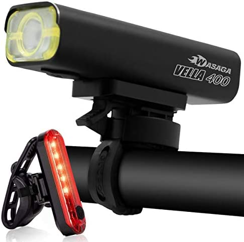Bright Waterproof LED Bike Bicycle Light USB Rechargeable Headlight Taillight RK