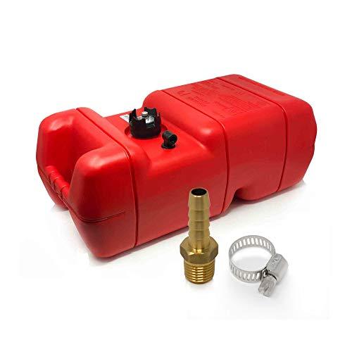 Five Oceans 6 Gallon Fuel Tank/Portable Kit w/Universal Brass Fuel Hose Barb (1/4