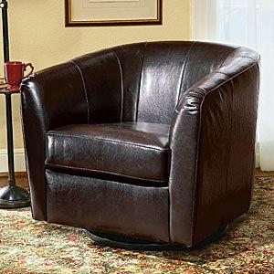 Italian Leather Swivel Chair