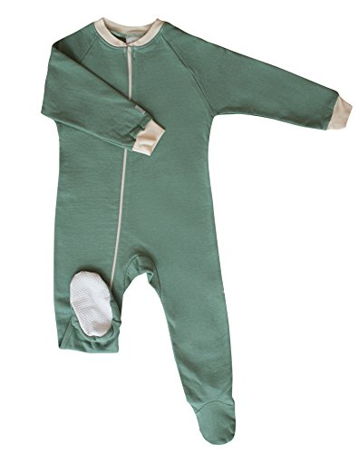 CastleWare Baby Fleece Footie Pajama (3T, Moss Green) by CastleWare Baby