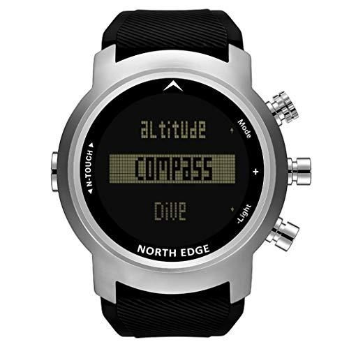 North Edge Men Diver Watch Waterproof 100m Smart Digital Watch Sport Compass Wat