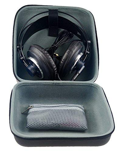 Over ear headphone Carrying case/ travel bag for Sennheiser HD800, HD598, AKG K701, Q701, Beyerdynamic DT880, DT990 and More other brands, removable zipper for - Force Headset Xbox 360 Ear X1