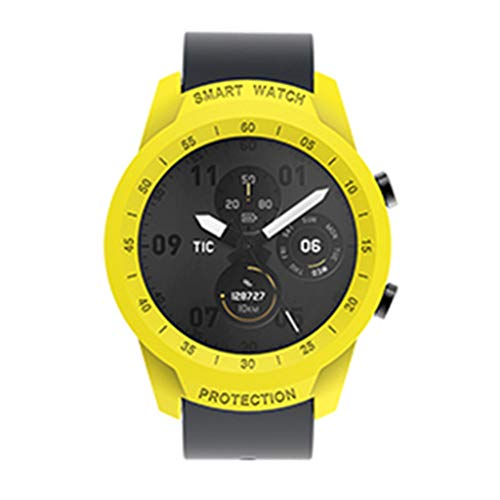Shoresu Protective Case Shockproof Cover Bumper Bracelet Shell Protector Accessories for Ticwatch Pro Smart Watch - C#