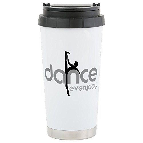 CafePress - dance everyday Stainless Steel Travel Mug - Stainless Steel Travel Mug, Insulated 16 oz. Coffee Tumbler by CafePress