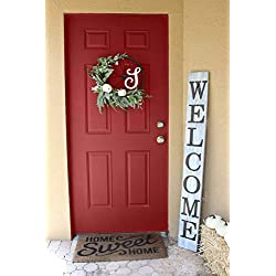 SmithFarmCo Wooden Welcome sign/signs for Front Porch/Front Door/Home Decor Made with Real Wood 5 feet Tall Large Rustic Fixer Upper Farmhouse Style (Farmhouse Distressed)