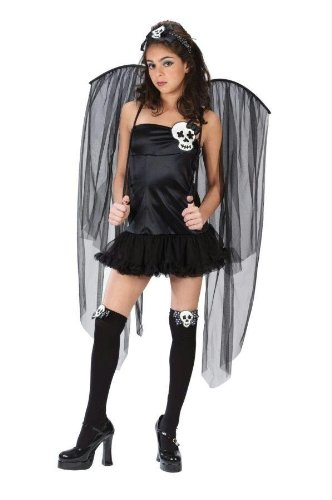 FunWorld Junior's Teen Skull Fairy, Black, Junior 0-9 Costume