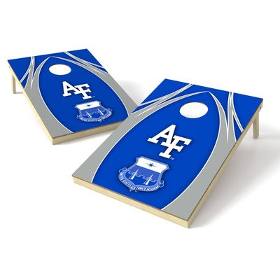 NCAA College Kansas Jayhawks 2 x 3 Platinum College V Logo Wood Tailgate Toss, 24'' x 36'', Multi by Wild Sports
