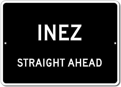 Custom Aluminum Sign - INEZ, KENTUCKY US City Straight Ahead Sign