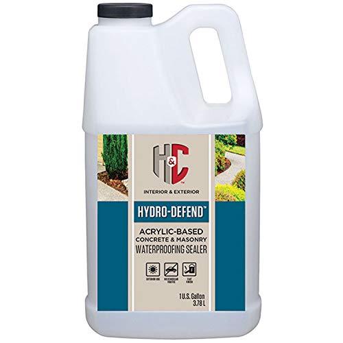 H&C 50.143054 Hydro-Defend Water-Based Concrete & Masonry Waterproofing Sealer Gallon