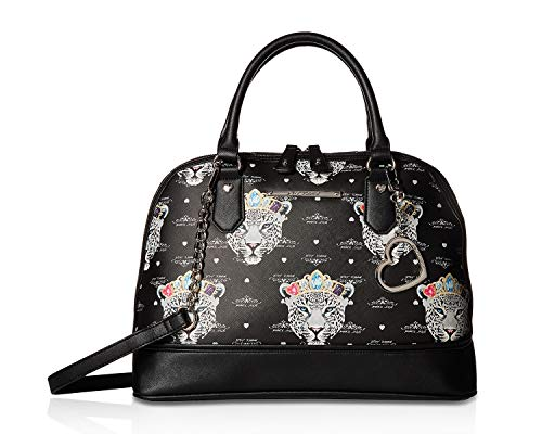 Betsey Johnson Women's Dome Satchel Black Multi One Size - Evening Johnson Betsey
