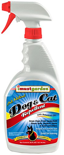 (I Must Garden Dog and Cat Repellent: All Natural Spray to Stop Chewing and Repel from Yards, Plants, and Gardens – 32oz Easy Spray Bottle)