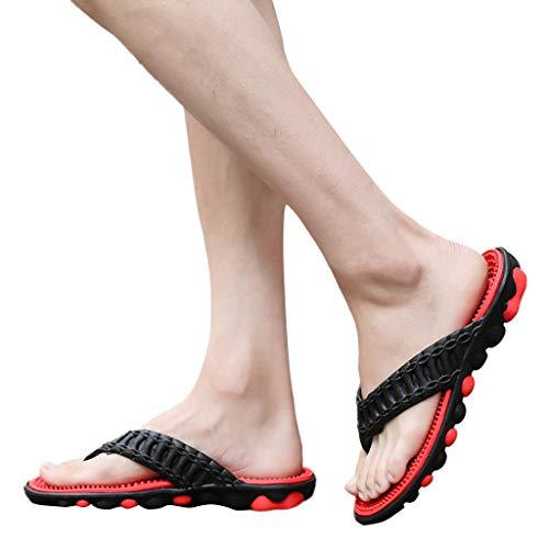 - Men Outer Banks Summer Beach Flip Flops Shoes Sandals Male Slipper Flip-Flops Flat&ANJUNIE(40,Red)