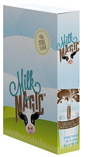 Chocolate Straws - Milk Magic Milk Flavoring Magic Straws Assorted Flavors (Chocolate, 56 Count)