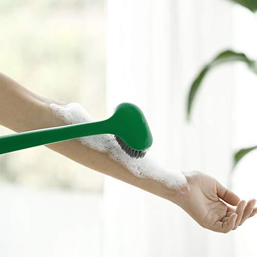 Dry Skin Body Brush- Body Scrub Bath Brush- Remove Dead Skin And Toxins, Cellulite Treatment, Improves Lymphatic Functions, Exfoliates, Stimulates Blood Circulation (Grey)