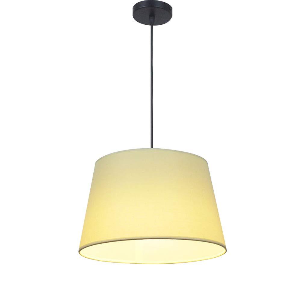 Einfache Stoff Kronleuchter, moderne kreative LED Eisen Beleuchtung Deckenleuchten Nordic Wohnzimmer Gang Esstisch Kronleuchter Cafe Balkon Pendelleuchte (Farbe   Gelb-32cm)