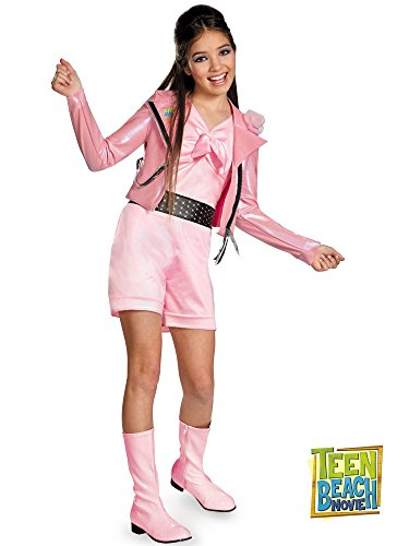 Biker Halloween Costumes Girl (Disguise Disney Teen Beach Movie Lela Biker Deluxe Girls Costume, 4-6X)