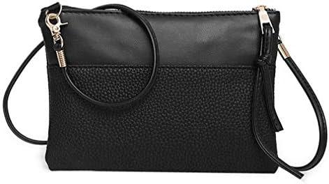 PUレザーレディースメッセンジャーバッグ、ミニファッションハンドバッグ、黒、20 * 15 * 4 Cm 美しいファッション