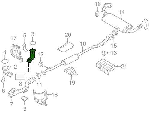 Nissan 208A2–5ag0a Catalizador de tres vías